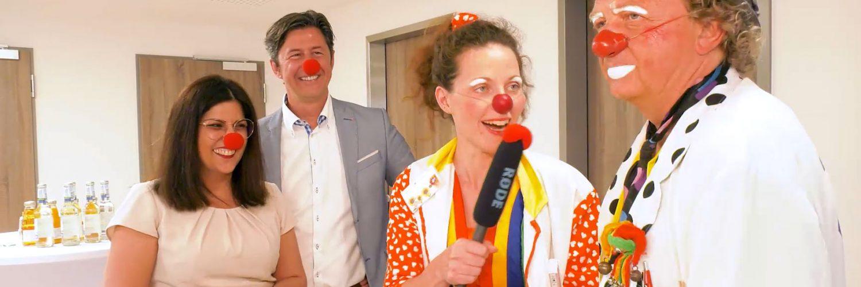 Die Clowndoktoren in der Limburger Klinik für Kinder- und Jugendmedizin