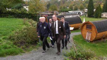 Regierungspräsident Dr. Christoph Ullrich besucht die LEADER-Region Limburg-Weilburg